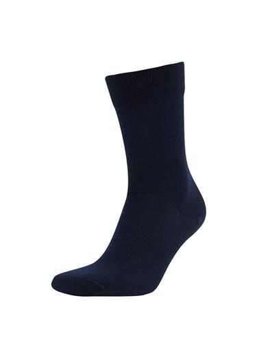 DeFacto Bambu 2'li Soket Çorap Lacivert